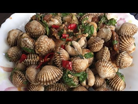 Seafood Recipes - Asian Food Recipes - Asian Food - Asian Cooking - Spicy Stir Fried cockles