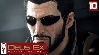 Deus Ex Mankind Divided Gameplay Part 10 - The Palisade Bank  - Lets Play [Stealth Pacifist PC]