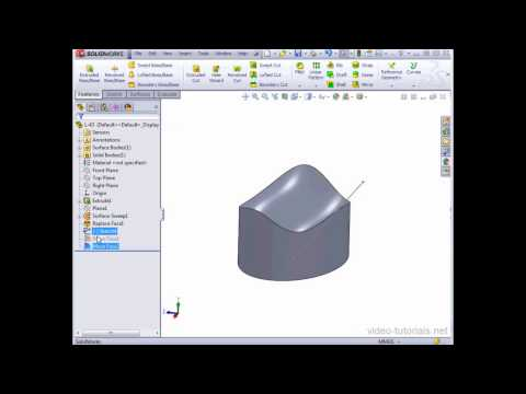How to move your model's faces SOLIDWORKS Tutorials Surface Design