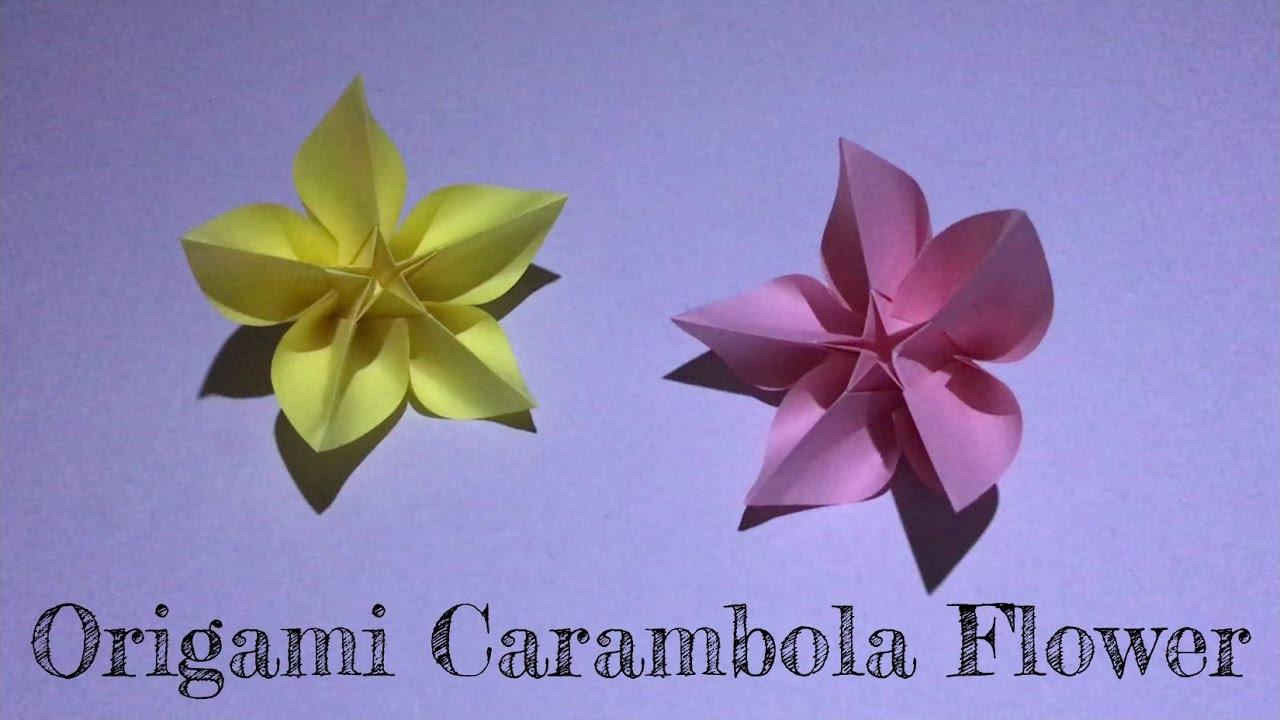 Little Box Diy Origami Carambola Flower Youtube