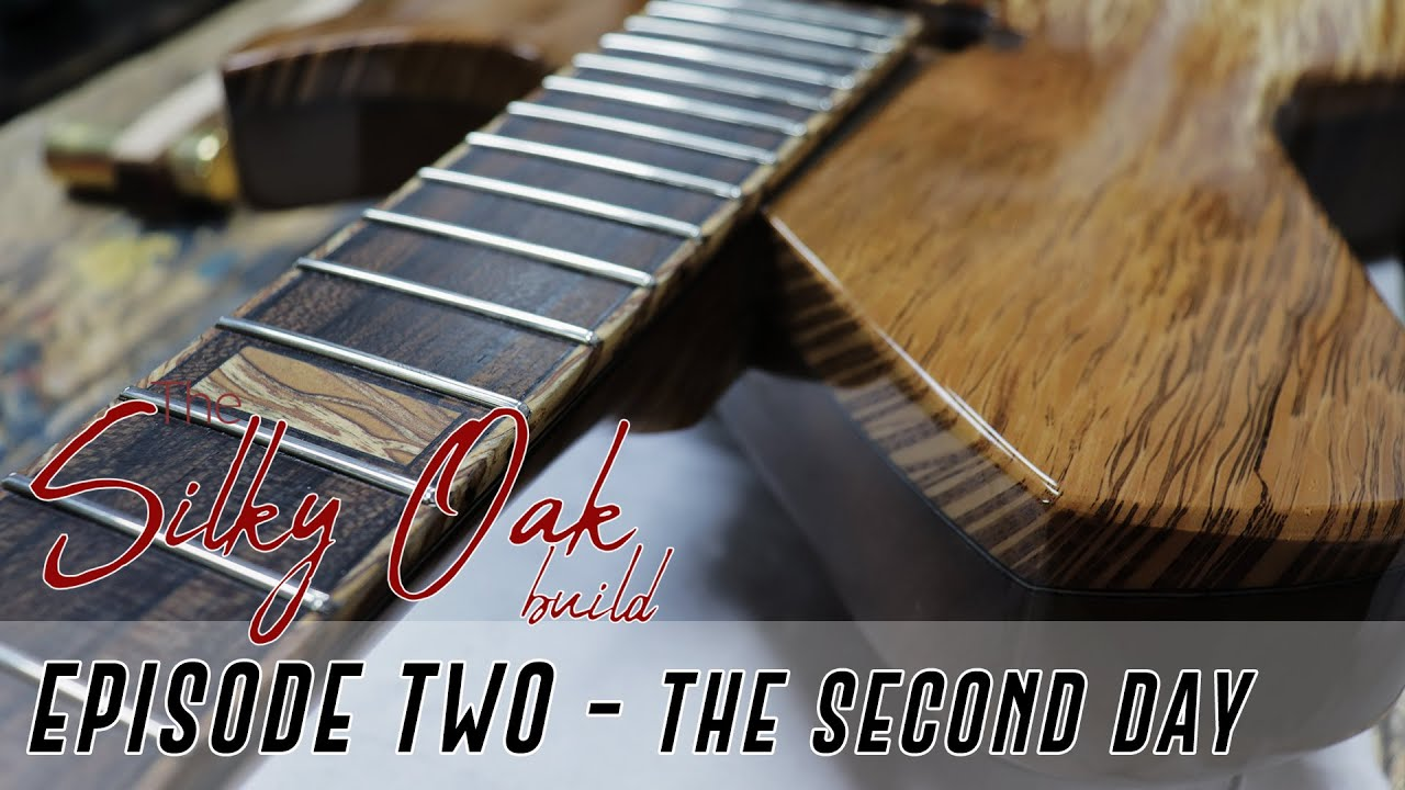How To Build An Exotic Set Neck Guitar The Silky Oak Build Ep 2