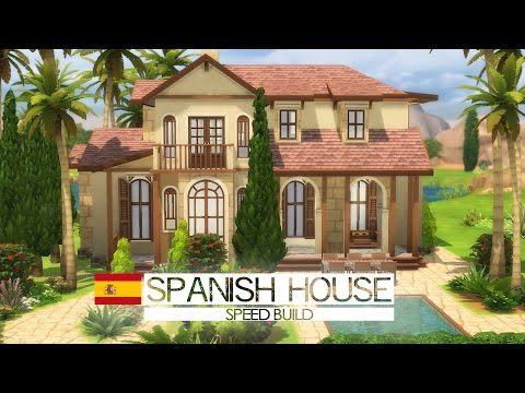 The Sims 4 - Speed Build - Spanish house (Around the World)
