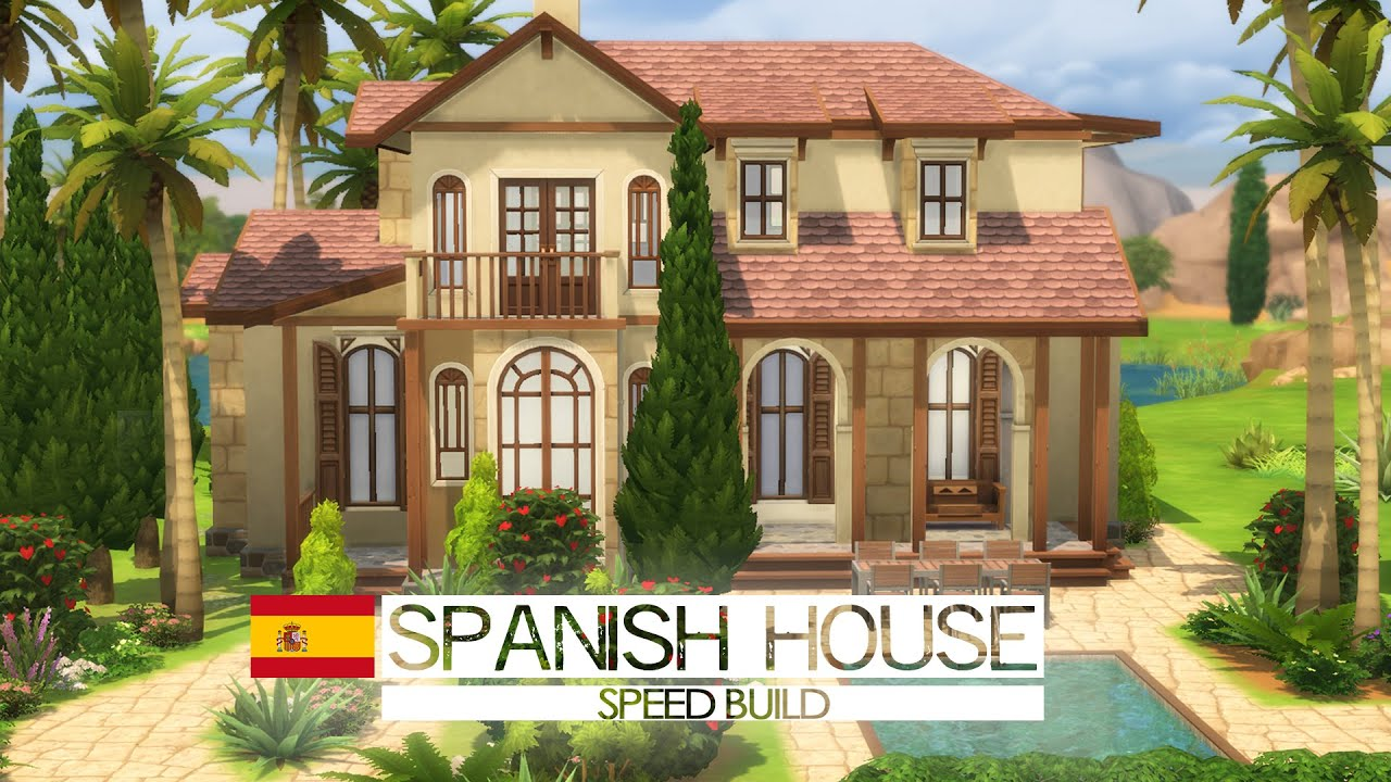 The Sims  Speed Build Spanish House Around The World Youtube
