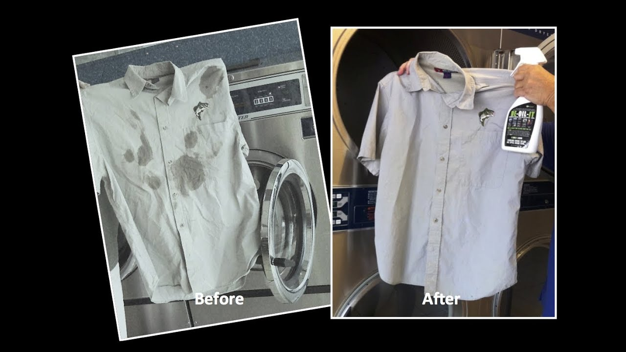 how to remove motor oil stains from clothes