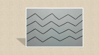 How to draw Zig Zag Line Day-2 (Outline-006)