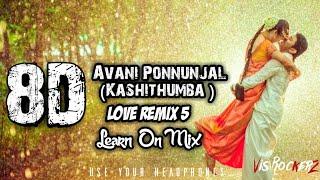 Avani Ponnunjal Mashup Cover | 8D SURROUNDED | Kashithumba Kavai |Love Remix 5 | Lean On Mix