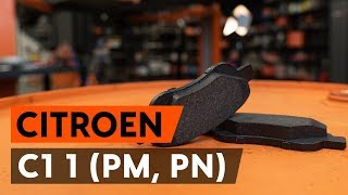 How to change front brake pads / front brake pad set on CITROEN C1 (PM, PN) [TUTORIAL AUTODOC]