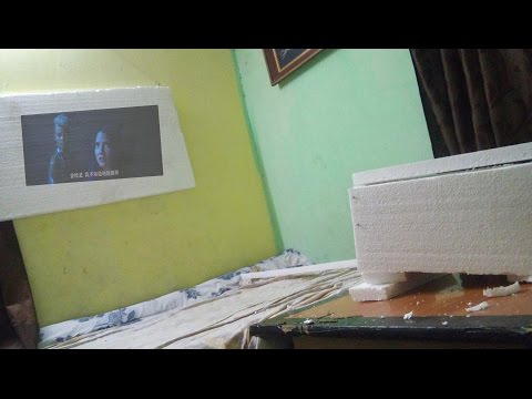 How to  make Android Mobile Projector using thermocol with screen easily at home