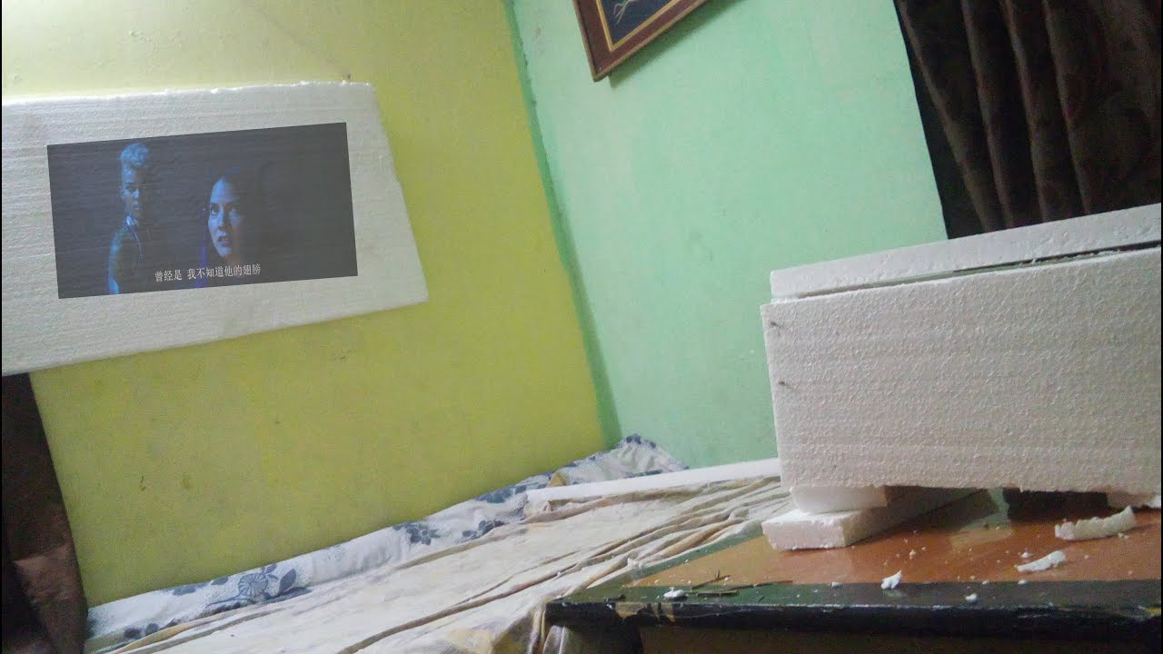 How to make android mobile projector using thermocol with for How to make mobile projector