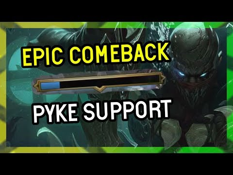 EPIC COMEBACK PYKE SUPPORT - Season 9 League of Legends thumbnail