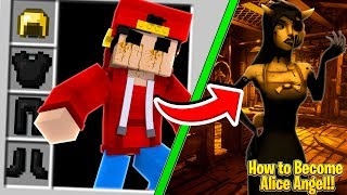 Minecraft - HOW TO BECOME ALICE ANGEL FROM CHAPTER 5!!