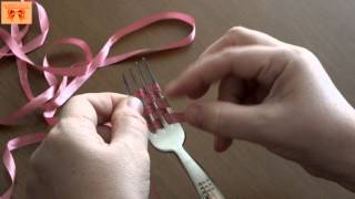 Çatal ile Fiyonk Yapımı / How to make a Fork Bow