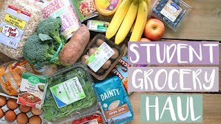 STUDENT GROCERY HAUL | HEALTHY MEAL IDEAS