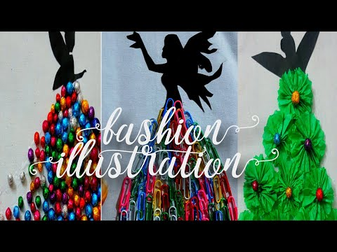 creative fashion illustration dress  diy/crafito art&craft