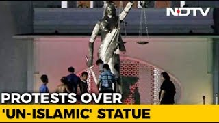 'Un Islamic' Lady Justice Statue Removed In Dhaka, Hardliners Want All Idols To Go