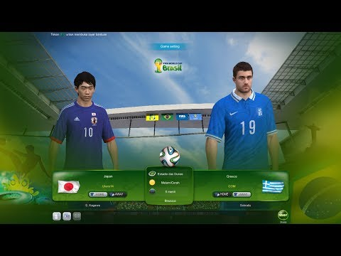 "WORLD CUP 2014 - JAPAN Vs GREECE (3-0) ""FIFA ONLINE 3"""
