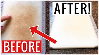 How to Deep Clean Plastic CUTTING CHOPPING BOARD!! (Easy Cleaning Hack Included) | Andrea Jean