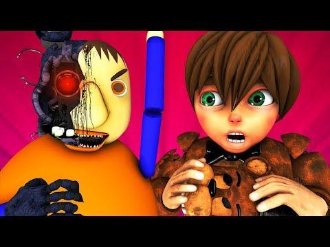 Балди Vs FNAF 4: История Аниматроников (Five Nights At Freddy's | Baldi Пять Ночей ФНАФ 3D Анимация)