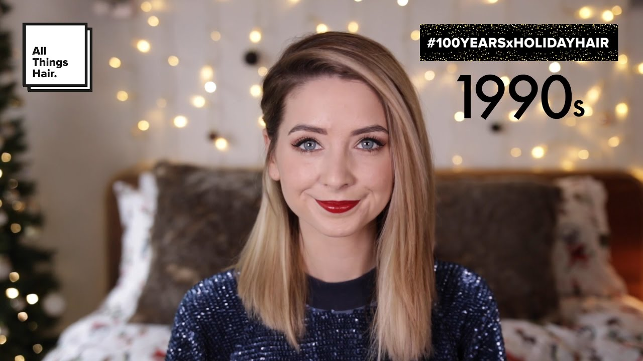 90s Short Hairstyles: 90s Straight Hairstyle For Holiday Parties By Zoella
