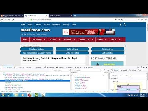 Cara Merubah WARNA Template Blogger Menggunakan Kode HTML