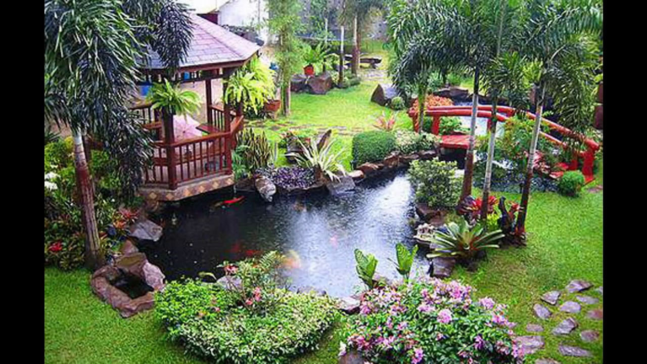 Tropical garden design ideas - YouTube on Tropical Patio Ideas id=53230