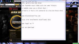 video aula 3 como instalar black shot online