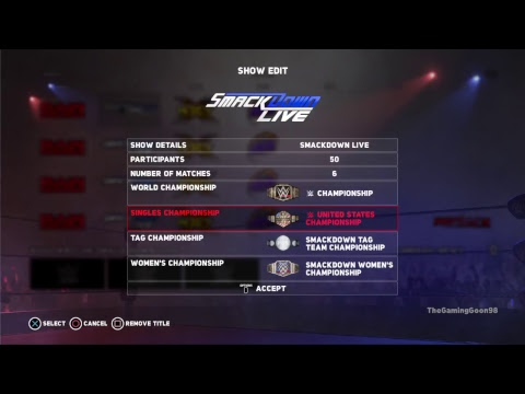 WWE 2K18 Universe Mode Ep.0 Creation