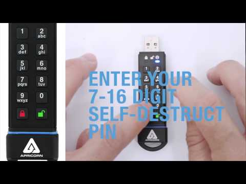 Aegis Secure Key 3.0 Tutorial 7: SETTING THE SELF DESTRUCT PIN