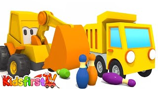 Games for kids and car cartoon. Excavator Max and dump truck. Animation for kids and kids games.