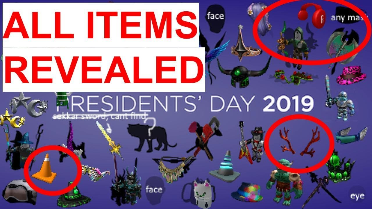 Roblox Memorial Day Sale 2020 Items Roblox Presidents Day Sale 2019 All Items And Limiteds Leaked Youtube