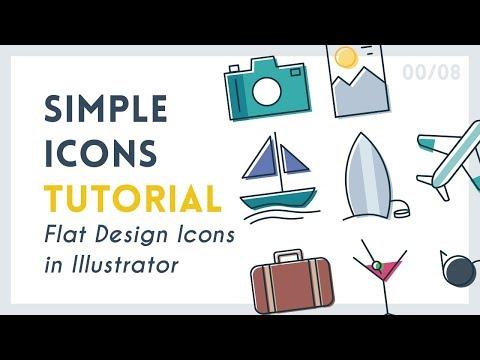 Create Simple Icons | Illustrator Tutorial