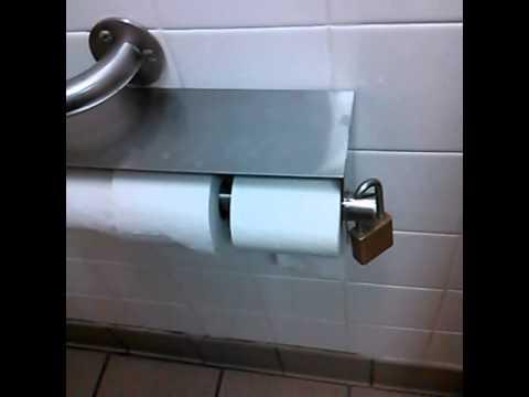 Locks on toilet paper  lmao