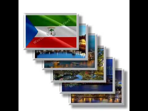 GQ - Travels in EQUATORIAL GUINEA - rectangular magnets and souvenirs