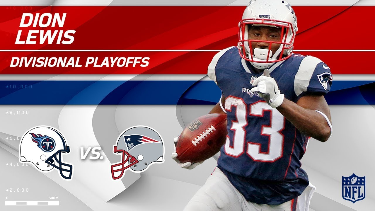 finest selection 0b971 b7c44 Dion Lewis' Huge Game w/ 141 Total Yards! | Titans vs. Patriots |  Divisional Round Player HLs