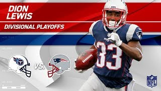 Dion Lewis' Huge Game w/ 141 Total Yards! | Titans vs. Patriots | Divisional Round Player HLs