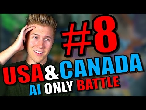 Hearts of Iron 4: USA & Canada States Mods Gameplay [AI Only] - HOI4 Hearts of Iron 4 - Part 8