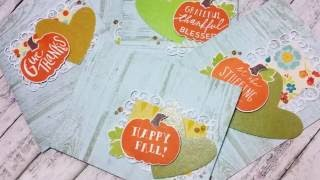 Fall Theme Set of Cards ft Reverse Confetti & Concord 9th