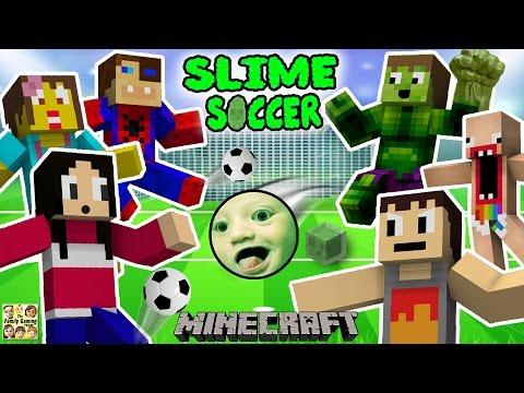 FGTEEV FAMILY SLIME SOCCER MATCH!  Super Fun Minecraft Game w/ Furby Crowd (6 Players)