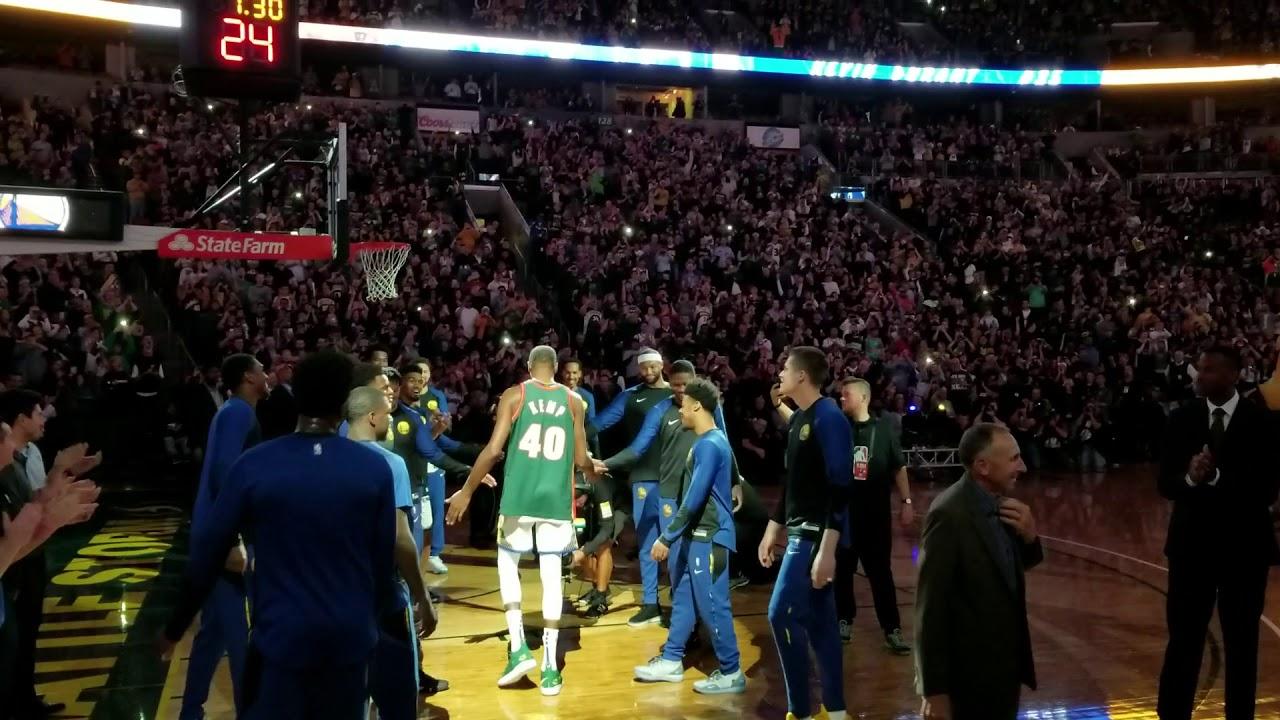 Kevin Durant wears surprise Shawn Kemp jersey in return to Seattle ... 21f93ee2b