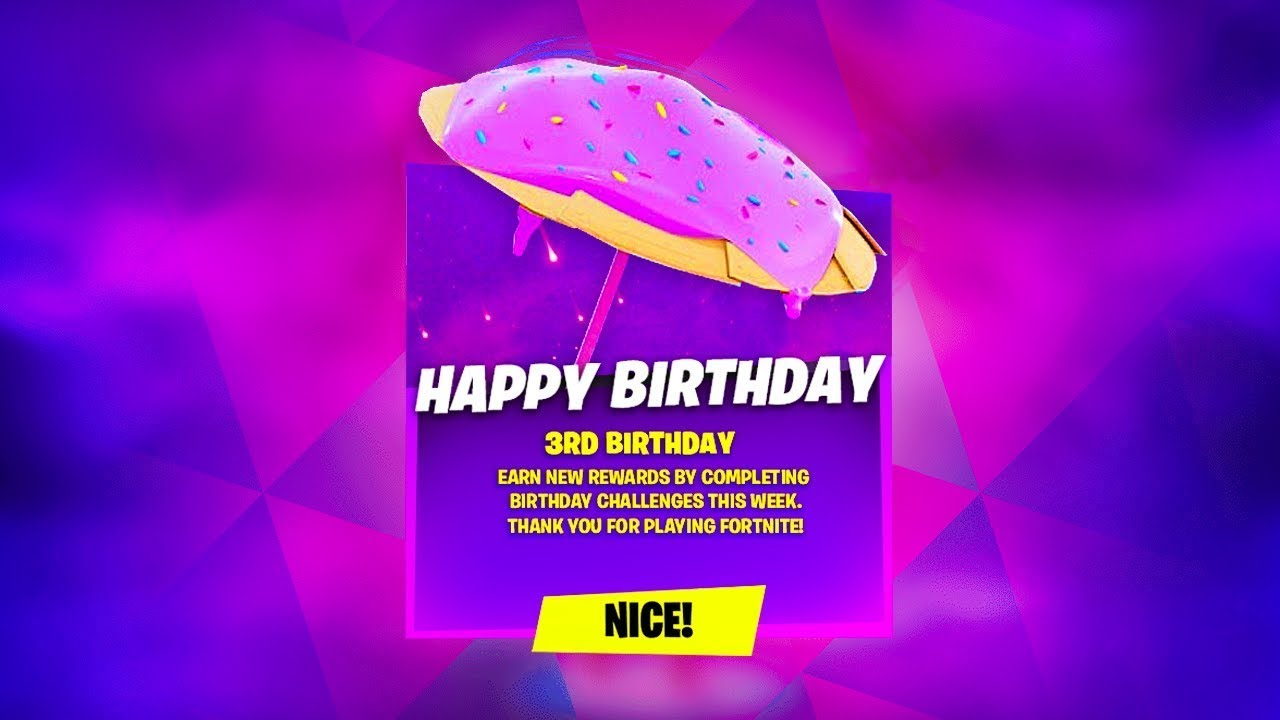 How To Get Free 3rd Birthday Rewards In Fortnite! (Birthday Challenges)
