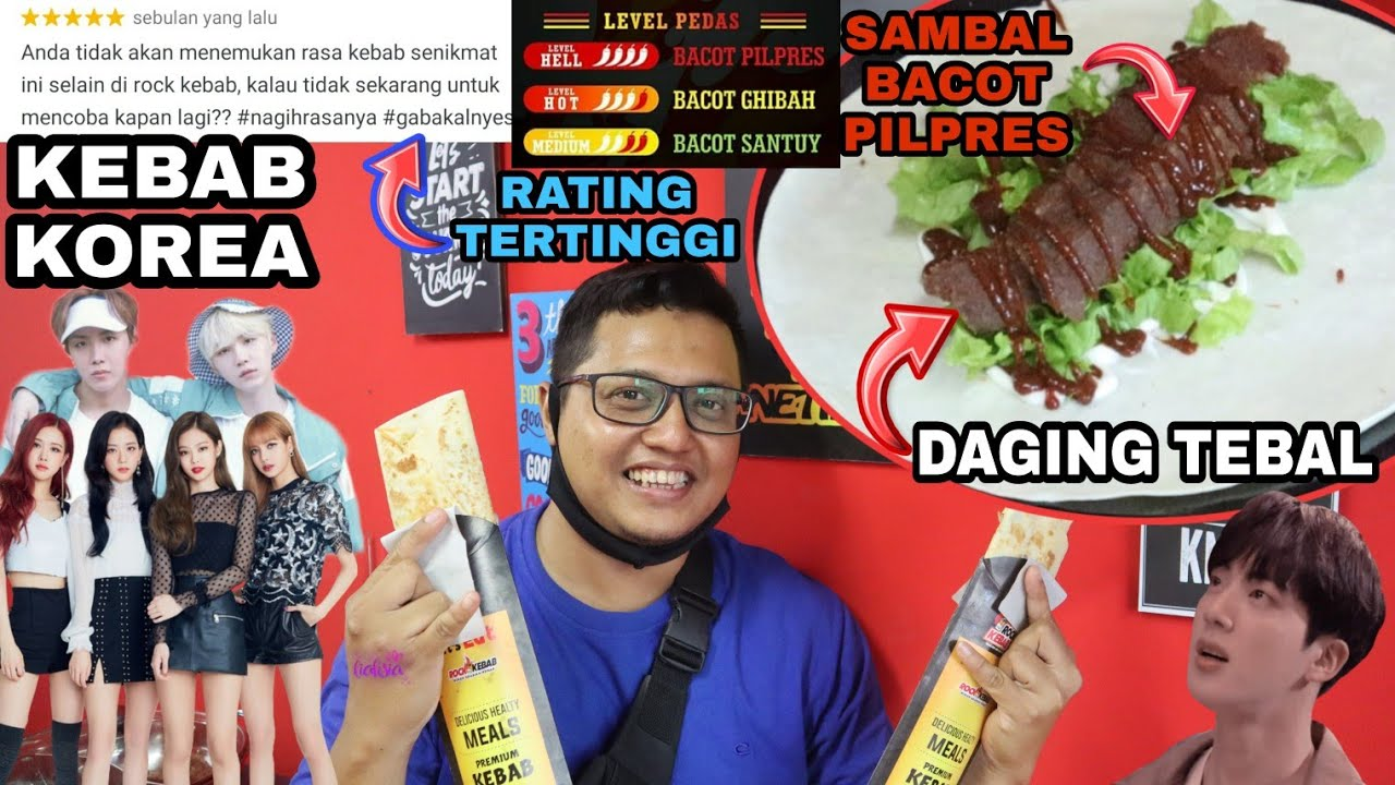 KEBAB KOREA RATING TERTINGGI !! DAGINGNYA TEBEL BGT PEDESNYA SAMPE KERINGETAN ! #kebab #kebabkorea