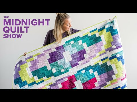 Angela's Modern Bargello Quilt + GIVEAWAY | Midnight Quilt Show with Angela Walters