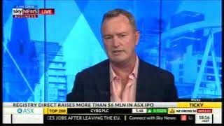 Registry Direct featured on Sky News Business on 1st November 2017