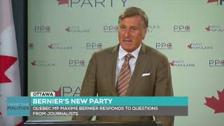 "Maxime Bernier announces formation of the ""People's Party of Canada"""