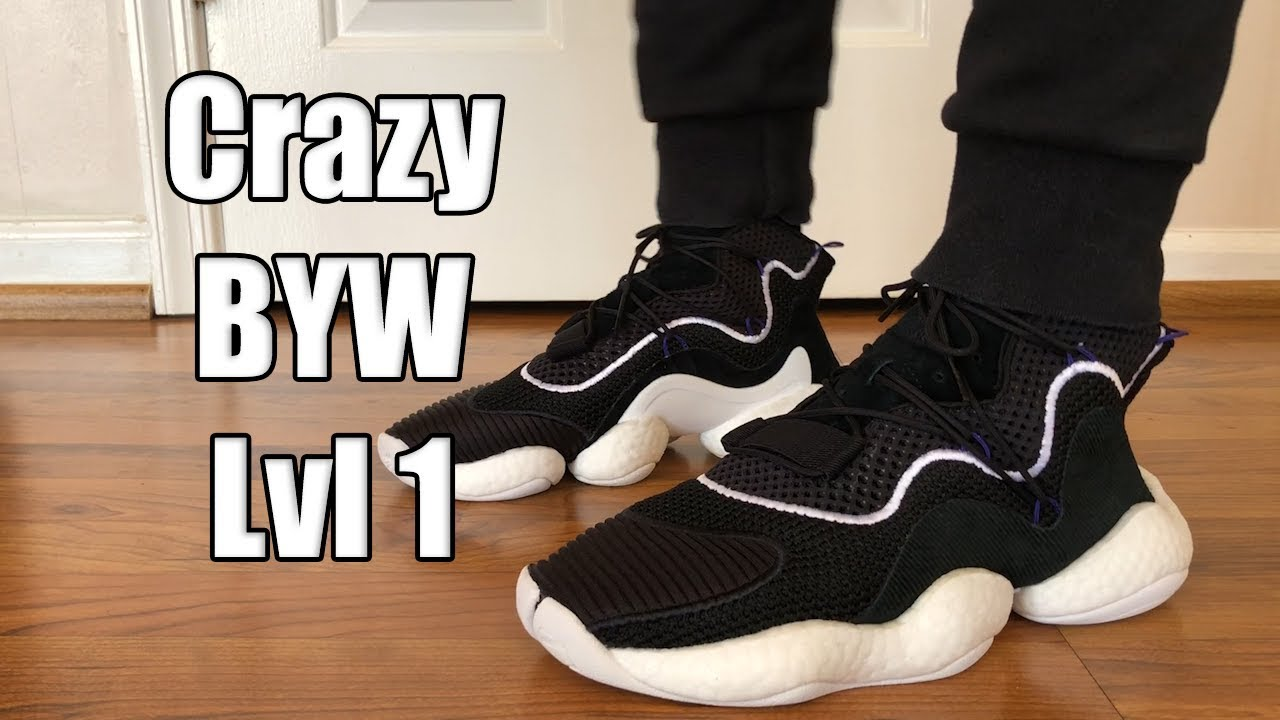 new product 2518e c8d40 Adidas Crazy BYW (Boost You Wear) Lvl 1 Review + On feet