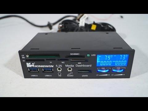 #1540 - Kingwin FPX-004 Multi Function LCD Fan Controller I/O Panel