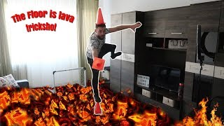 The Floor is lava VS Real Trick Shots