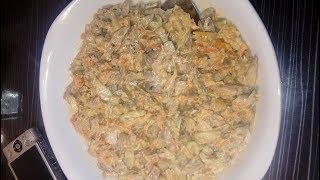 нежный салат с куриной  печенью