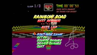Mario Kart 64 - Rainbow Road Theme Song - User video