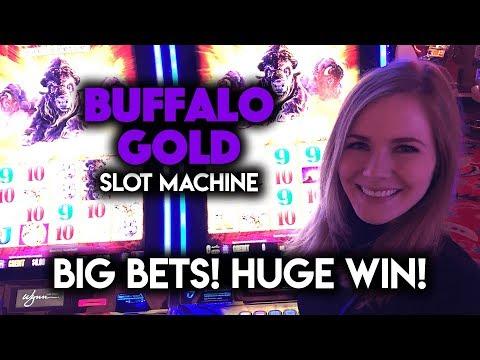 Buffalo Gold Slot Machine! BIG Bets! HUGE WIN!!!